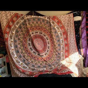 red tapestry from tree of life